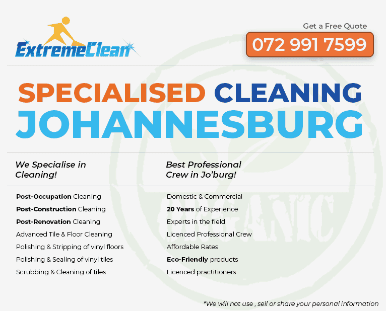 Johannesburg Cleaning Quote